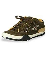 BACCA BUCCI MEN OLIVE GENUINE LEATHER CASUAL SHOES