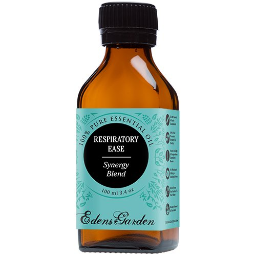 Respiratory Ease Synergy Blend Essential Oil by Edens Garden (Cardamom, Hyssop, Juniper Berry and Rosemary)- 100 ml
