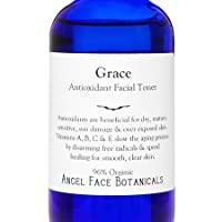 Grace Organic Antioxidant Facial Toner - Speeds Cellular Real for Smooth Clear Skin 9 oz by Angel Face Botanicals