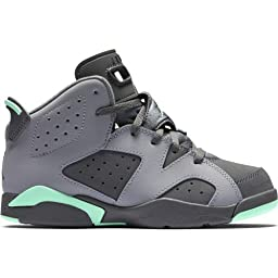 543389-005 PRESCHOOL 6 RETRO GP JORDAN CEMENT GREY/DARK GREY/GREEN GL