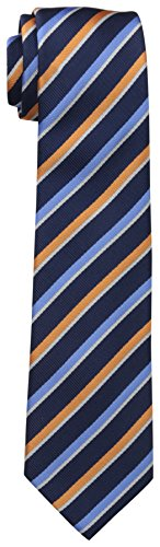 Dockers Big Boys' Stripe 2 Necktie, Navy/Orange, One Size