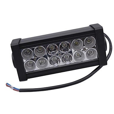 Commoon Ships In 24 Hours 36W Mixing Light 6000K 12-Epistar Led Work Light Bar Diy Used In Car/Boat/Auto Headlight