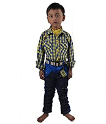 Motley Boys' Cotton Shirt And Pant (motley6sw_7-8 Years_Yellow _7-8 Years)