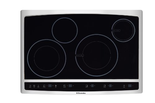 "Electrolux Ew30Cc55Gs 30"" Induction Hybrid Cooktop With Two Induction Elements And Power Assist, Stainless Steel"