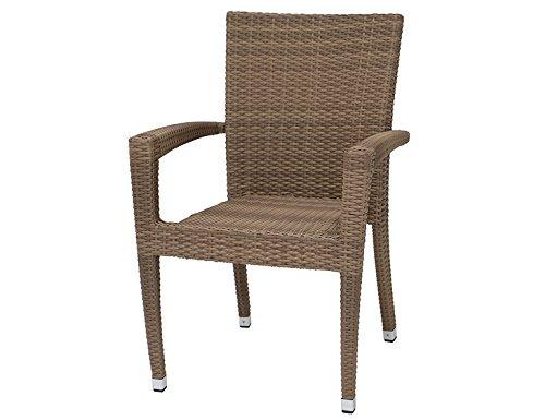 Siena Garden 274419 Stapelsessel Braga Aluminium-Gestell Gardino®-Geflecht sand Aluminium-Fußkappen kaufen