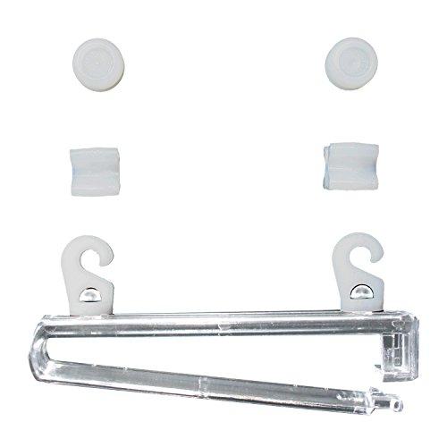 16071009-0800 Schlaufengleiter mit X-Gleiter und Gardinenrollen, Kunststoff, Packungsinhalt 8 Stück