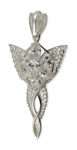 Lord Of The Rings - Evenstar Filigree - 925 Sterling Silver - Cubic Zirconia