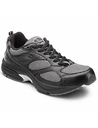 Dr. Comfort Endurance Plus Men's Therapeutic Diabetic Extra Depth Shoe Leather-and-Mesh Lace