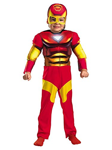 Marvel Comics Toddler Boys Iron Man Muscle Costume & Mask Ironman 2T