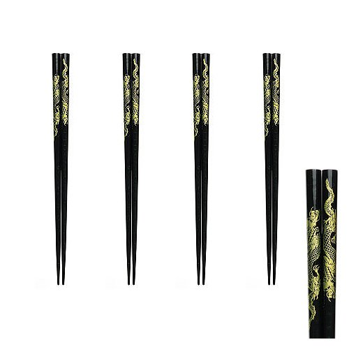 Black Dragon Chopsticks Set