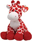 TY Pluffie Kisser White and Red Giraffe