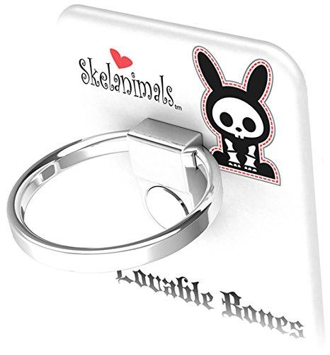 BUNKER RING Skelanimals (5 Character)バンカーリング  iPhone/iPad/iPod/Galaxy/Xperia/スマートフォン・タブレットPCを指1本で保持・落下防止・スタンド機能(Rabbit White )