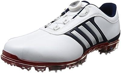 [アディダスゴルフ] ゴルフシューズ ピュアメタル ボア プラス メンズ ホワイトシルバーメタリックパワーレッド 26 Cm 3e