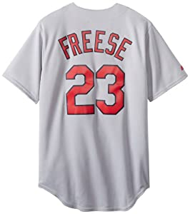 MLB St. Louis Cardinals David Freese 23 Replica Jersey, Road Grey by Majestic