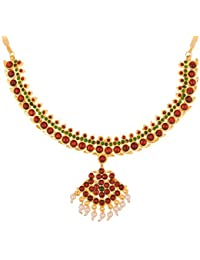Preethi Gold Plated Strand Necklace For Women (Preethi_74)