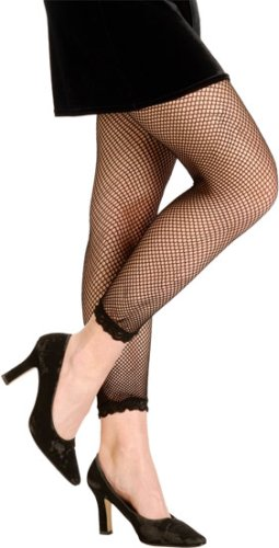 80s Maddona Style Black Fishnet Leggings Costume