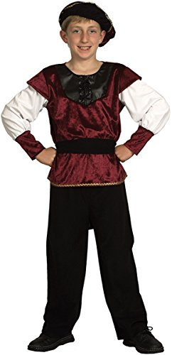 Kids Fancy Dress Party Medieval Renaissance Prince Book Week Day Complete Outfit