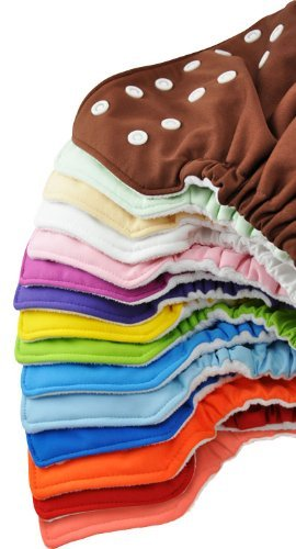 12 Pack FuzziBunz Cloth Pocket Diaper - Small - Girl Colors