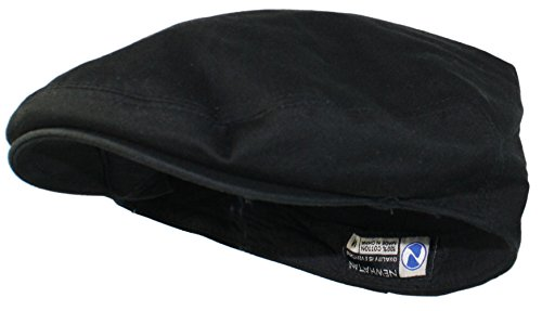 Ted and Jack - Street Easy Traditional Solid Cotton Newsboy Cap in Black