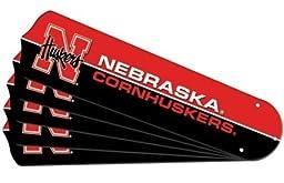 Ceiling Fan Designers 7992-NEB New NCAA NEBRASKA CORNHUSKERS 42 in. Ceiling Fan Blade Set