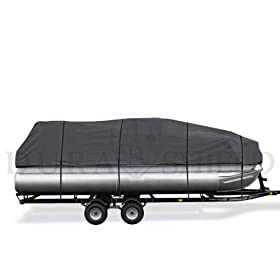 DuraShield 21' to 24' Pontoon Boat Cover with Heavy Duty 600d Marine Grade Poly 2W