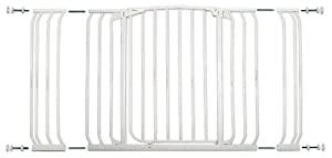 Dreambaby Pressure Mount Hallway Gate with Extensions, White