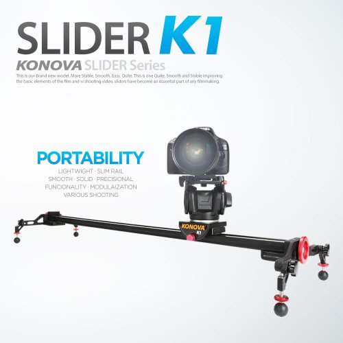 Konova Portable Slider Dolly K1 60cm (23.6 pollici)