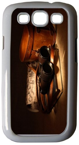 Rikki Knighttm Vintage Old Binoculars With Bag - White Hard Rubber Tpu Case Cover For Samsung® Galaxy I9300 Galaxy S3