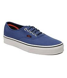 Vans Authentic (Poly Canvas) Estate Blue Low Top Sneakers (10.5 M US 11.0 W US)