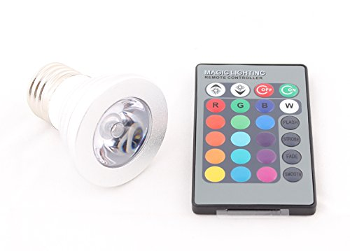 Pwow® 16 Color Change Rgb Led Bulb Party Light + Ir Remote Control