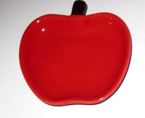 Beautiful Red Apple Fruit Plate Spoon Rest Tea Bag Rest, On Sale