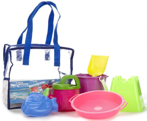 Amloid Mega Beach Tote - 8 Pieces Sand Toy Play Set
