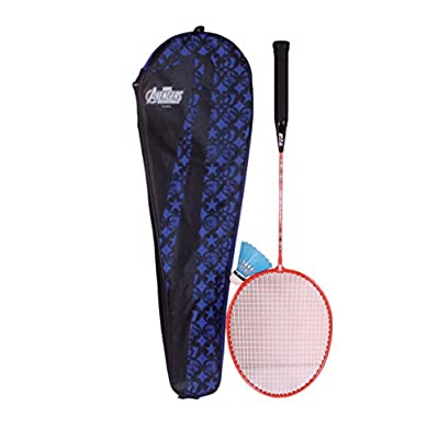 Disney Avenger Combo Badminton Racquet, Junior G4 (Blue)