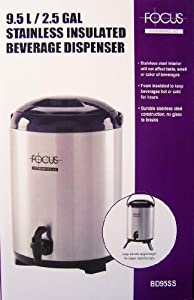 9.5L/2.5GAL Stainless Insulated Beverage Dispenser