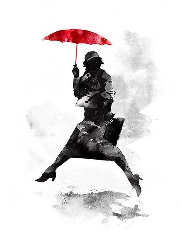 Puddle Jumper di Robert Farkas Art Print Poster