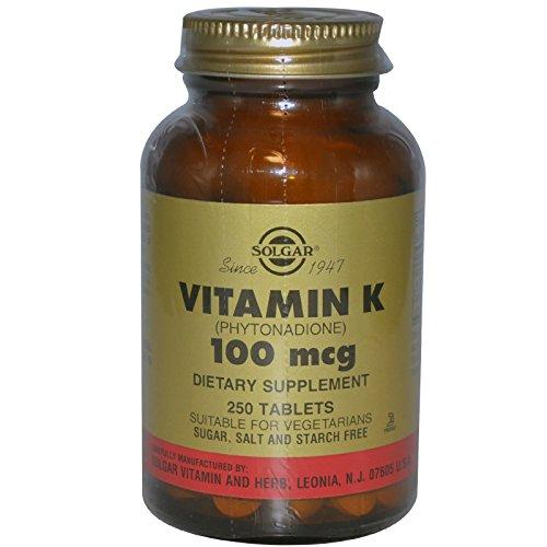 Solgar, Vitamin K, 100 mcg, 250 Tablets