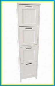 Drawer Bathroom Storage Unit Slimline Chest Of 4 Bedside Cabinet