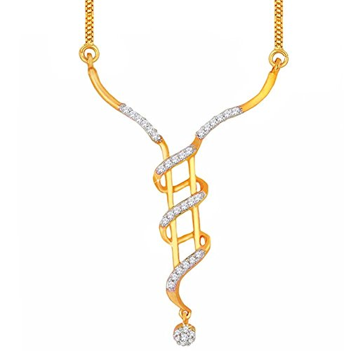 Asmi Asmi 18K Yellow Gold Diamond Mangalsutra Pendant (Multicolor)