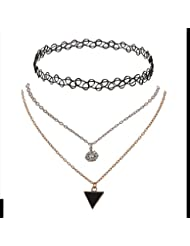Zephyrr Fashion Retro Gothic Stretchable Metallic Chain Choker Necklace For Girl