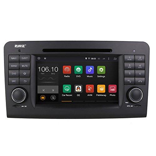 Rupse-Multimedia-Auto-GPS-Navigationssystem-Navigationgert-Autoradio-mit-Bildschirm-7-Zoll-Android-44-Dual-Core-16GHz-1GB-RAM-Lenkradsteurung-RDS-Bluetooth-WIFI-Subwoofer-Output-4x45w-Optional-DVB-T-D