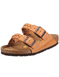 Birkenstock Sandals ''Arizona'' from Leather in Antique Brown Coarse with a regular insole by Birkenstock