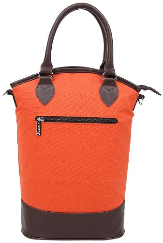Sachi Vino 2-Bottle Wine Tote, Style 35-266, Orange - 1