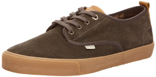 Gola Mens Falcon Suede Low-Top CMA 557 Anthracite/Gum 10 UK, 44 EU