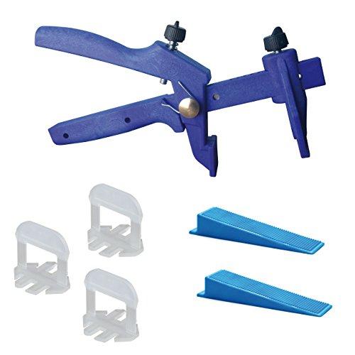 Lantelme-6019-Fliesen-Nivelliersystem-Basis-Set-fr-Fuge-4-mm-und-3-15-mm-Strke-Verlegehilfe-Verlegesystem-Fliesenverlegung-Fliesenverlegehilfe-Fliesenverlegesystem-blue-Edition