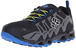 Columbia Men\'s Ventrailia Trail Shoe, Black/Zour, 13 D US
