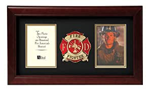 Allied Frame Fire Fighter Dual Picture Frame