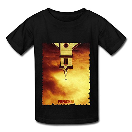 American Action TV Series Preacher 2016 Poster Black T Shirt For Big Boys'Girls'