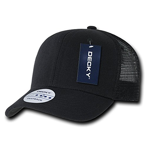 DECKY 6 Panel Curve Bill Trucker Cap, Black (Six Panel Hat compare prices)