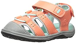 See Kai Run Kenai Closed Toe Sandal (Toddler/Little Kid), Coral, 12.5 M US Little Kid
