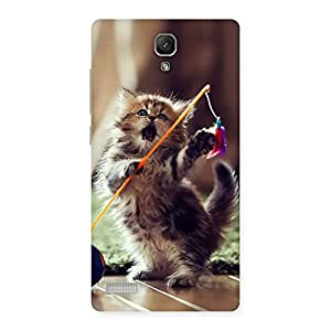 Enticing Dancing Cute Cat Back Case Cover for Redmi Note